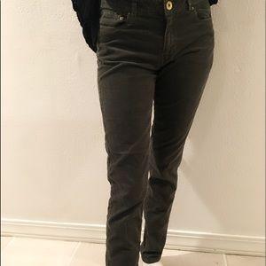 Corduroy dark green skinny pants size 8
